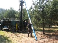 Wiercenie studni głębinowej o średnicy 125 mm